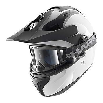 GHQZ Motocross Casco De Carreras De Tiburón Locomotor Tiburón Doble Lente Esparta Reducción De Ruido (
