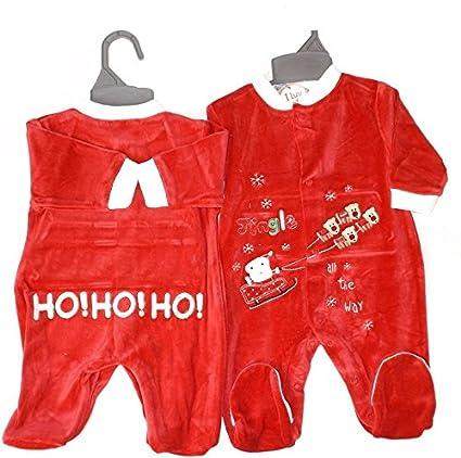 Rojo terciopelo bebé Pelele Jingle todo el camino rojo rosso Talla:0-