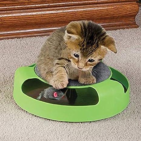 AntCompany Solo para Mascotas Encantador Bastante Bonito Moda ComfortablePet Suministros Gato Plástico Atrapa el ratón Tocadiscos Interactivo Juguetes para ...