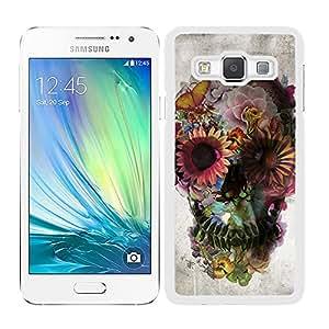 Funda carcasa para Samsung Galaxy A7 calavera mexicana estampado flores borde blanco