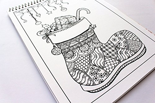 adult coloring book santas christmas volume 11 by prajakta p spiral bound christmas coloring