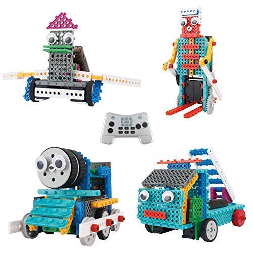 Robot Kit for Kids - Ingenious Machines Build Your Own Remote Control Robot Toy - TG632 Awesome Fun Robot Kit & Construction Toy by ThinkGizmos (All Batteries Included)]()