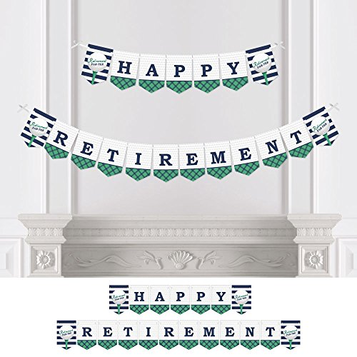 Golf Banner (Par-Tee Time - Golf - Retirement Party Bunting Banner - Golf Party Decorations - Happy Retirement)