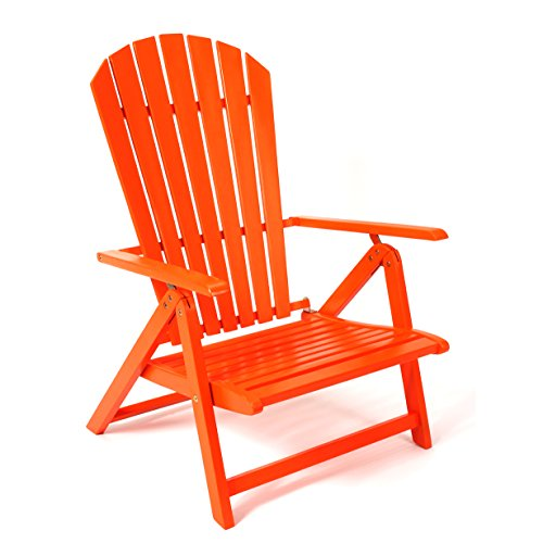 Sabbatical Beach Chair - Portable Folding and Reclining Adirondack Style for the Beach, RV Camping and Outdoor Events (Mandarin)
