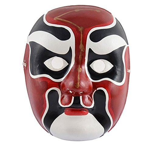 Festa de Halloween Plástico DealMux Cultura Chinesa Ópera de Pequim traje máscara mão pintado ()