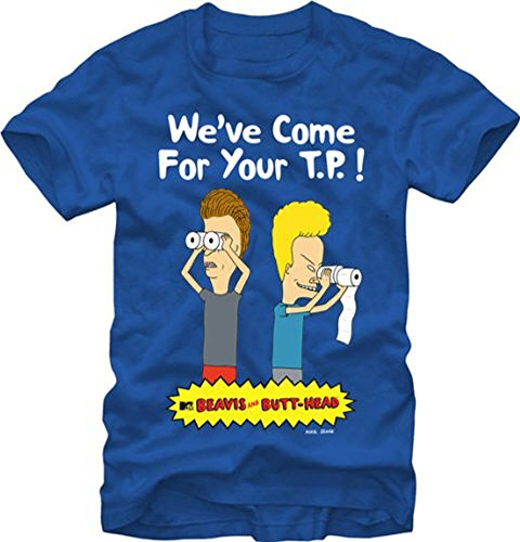 Beavis and Butthead Men's Papers T-Shirt
