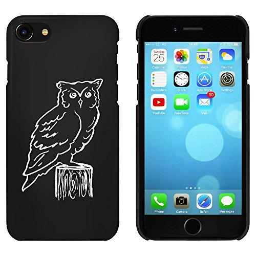 Noir 'Hibou sur Souche' étui / housse pour iPhone 7 (MC00067435)