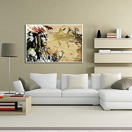 Amazon.com: yeefant decoración de pared, indio chica Hawk y ...