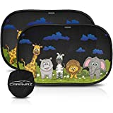 CARAMAZ Children's Car Heat Shield for Side Windows XL (2 pieces - 52 x 30 cm), Adhesive Sun Shields to Protect Your Children and Pets from Harmful UV Rays, Baby Car Sunshade, Heat Protection