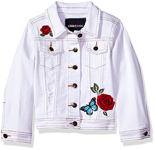 Limited Too Little Girls' Jean Jacket, White, 7/8 - Ltd Denim