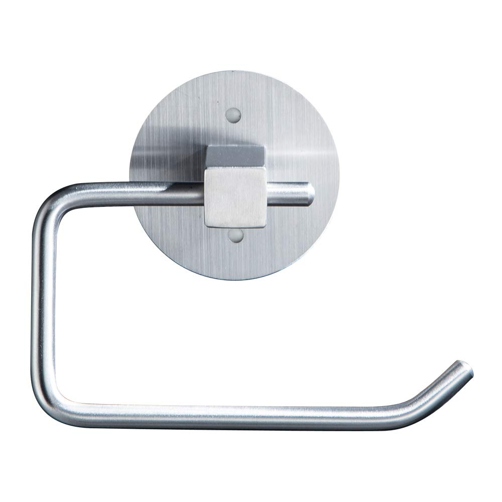 Songtec Toilet Paper Holder, 3M Self-Adhesive Bath Tissue Dispenser, No Drilling, Stainless Steel Toilet Roll Holder, Brushed