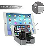 Kavalan 3 Port USB Type-C with Power Deliery USB Charging Station stand, USB-C Power Delivery PD Charger for New MacBook/MacBook Pro, Pixel C Tablet and more_Apple Watch Stand Included …