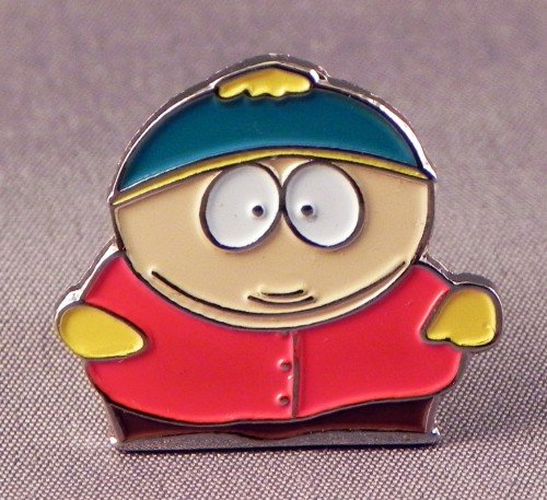 En métal émaillé Motif South Park Cartman (Télé) Mainly Metal