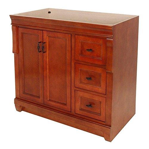 Foremost FMNACA3621D Naples 36 Inch Bath Vanity - Cabinet Only Vanity, Warm Cinnamon