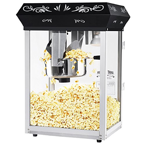 Great Northern Popcorn Black 8 oz. Ounce Foundation Movie Theater Style Popcorn Machine Top by Great Northern Popcorn Company (Image #1)