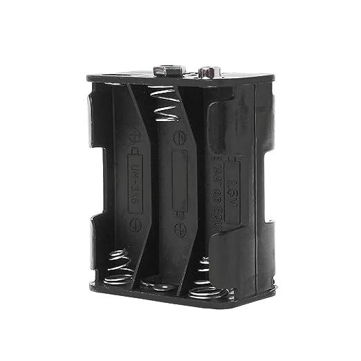 Funda para batería, soporte de batería de doble cara, 6 x 1,5 V ...