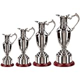 Personalised, Engraved Classic Nickel Plated Claret Jug Golf Golfer Award Trophy.