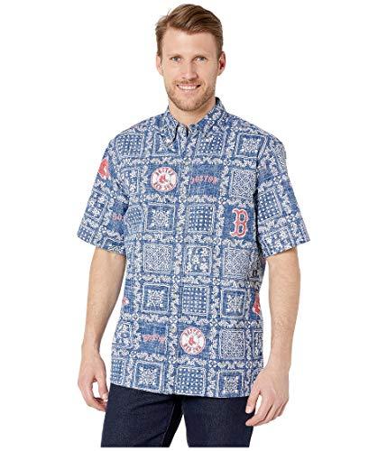 Reyn Spooner Men's Boston Red Sox MLB Classic Fit Hawaiian Shirt, Lahaina 2019, XXX-Large