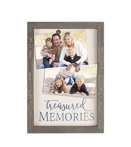 GRAHAM DUNN Treasured Memories Brown 9 x 13 Wood Metal Magnetic Framed Wall Plaque Magnets P