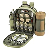 Picnic at Ascot Hamptons Backpack for 4 with Blanket