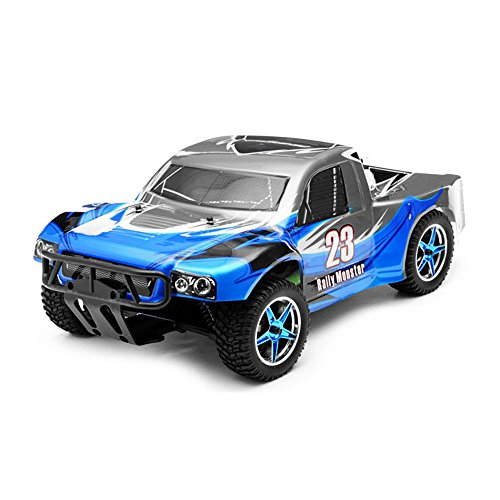 1/10th 2.4Ghz Brushless Exceed RC Rally Monster Electric RTR Racing Truck (AA Blue)