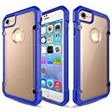 Image of iPhone 7 Case, Asstar Slim Crystal Clear PC Back TPU Bumper Cushion Premium Shock Absorption Scratch Resistant Drop Protection comfortable grip For Apple iPhone 7 2016 (Blue)
