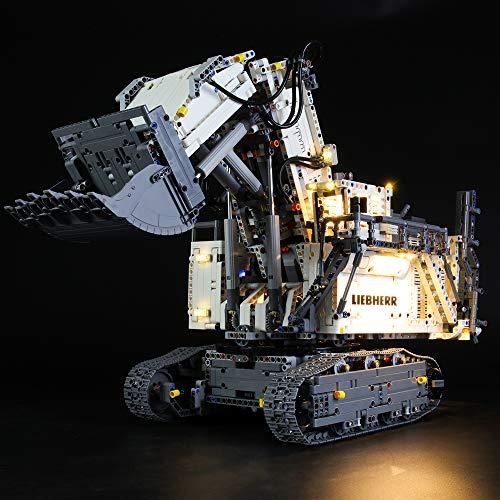 LIGHTAILING Light Set for (Technic Liebherr R 9800 Excavator) Building Blocks Model - Led Light kit Compatible with Lego 42100(NOT Included The Model)
