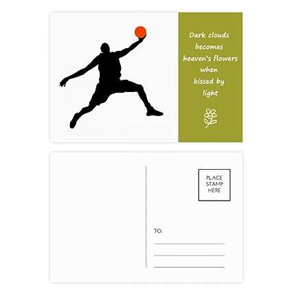 DIYthinker Mate de baloncesto Baloncesto Salto Poesía ...