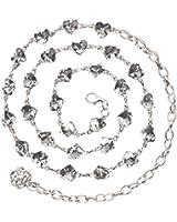 Womens Elegant Rhinestone Chain Belt Multi Link Metal Waist Chain Dress Belt