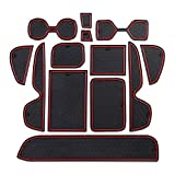 Salusy Custom Fit Cup, Door, Console Liner Accessories Gate Slot Pad Mat Compitible for Toyota RAV4 2019 2020
