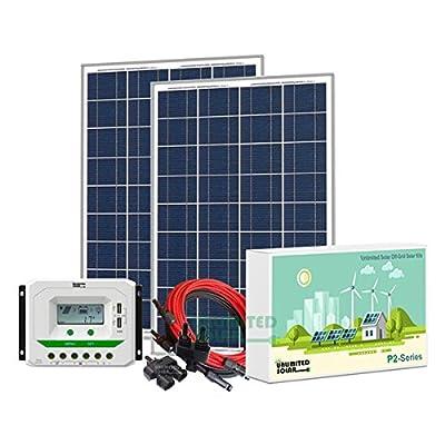 Unlimited Solar P3 Series 200 Watt 12 Volt Off-Grid Solar Panel Kit