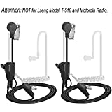 Acoustic Tube Earpiece LSENG 3.5mm 2 Pin PTT Mic Covert Headset for Two Way Radio (Baofeng,Kenwood,TYT, Puxing, Wouxun) – Pack of 2