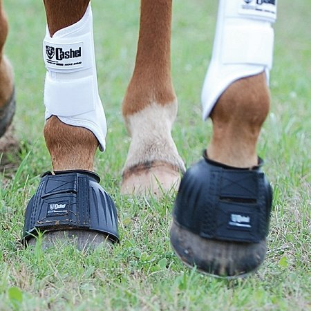 Cashel No Turn Rubber Bell Boots for Horses, Equine, Pair, Size X-Large, Color Black by Cashel