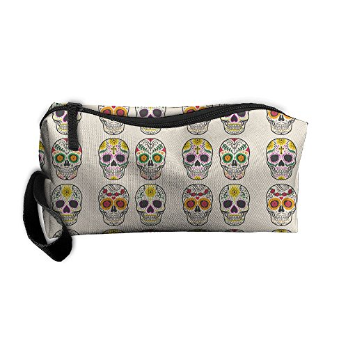 Diy Zombie Makeup Tutorial (Colorful Mexican Skull Sugar Skull Makeup Cosmetics Pouch Travel Hanging Organizer Kit Bag)