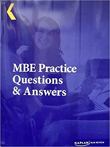 2016 Kaplan PMBR Bar Review MBE Practice Questions and