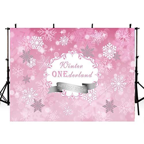 ウィンターワンダーランド 写真撮影用背景 薄いビニール製 写真撮影用背景 雪の結晶 デジタルプリント 写真背景 フォトスタジオ 12x8ft G860 B07JKSFLPM