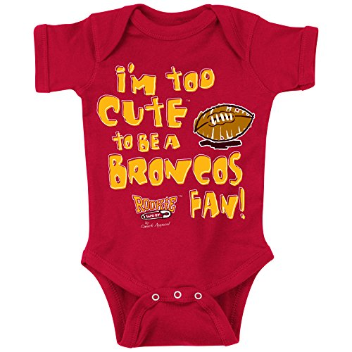 Smack Apparel Kansas City Pro Football Fans. Too Cute. Onesie (NB-18M) or Toddler Tee (2T-4T) (6 Month) ()