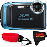 Fujifilm FinePix XP130 Digital Camera (International Version) No Warranty + Floating Strap + Fibercloth (Blue)