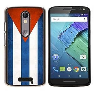 LECELL--Funda protectora / Cubierta / Piel For Motorola MOTO X3 3rd -- Nacional bandera de la nación País Cuba --
