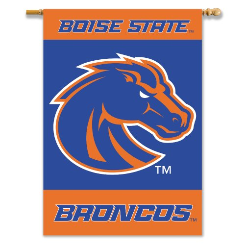 NCAA Boise State Broncos 2-Sided 28-by-40 inch House Banner with  Pole Sleeve Boise State Broncos Flag