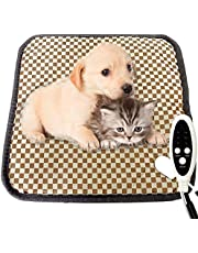 """Couvkadl Pet Heating Pad, Electric Heated Pad for Dogs and Cats Indoor Waterproof Warming Mat with 3 Levels of Temperature Adjustment, Auto Off, Durable for Puppies Cats Dogs (18"""" X 18"""")"""