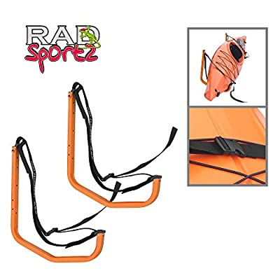 1225 RAD Sportz Easy Hanger Kayak Rack and Stand-Up Paddle Board Holder Yellow