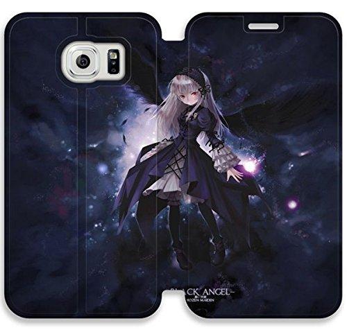 Funda Samsung Galaxy S6 Edge Funda de cuero [Buen regalo bonito regalo] [Blackangel x] [Card/Cash Slots] Protectora caja del teléfono para Samsung Galaxy S6 Edge D5W0UY