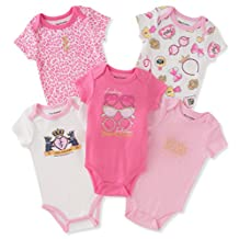 Juicy Couture Girls' 5 Pack Bodysuits