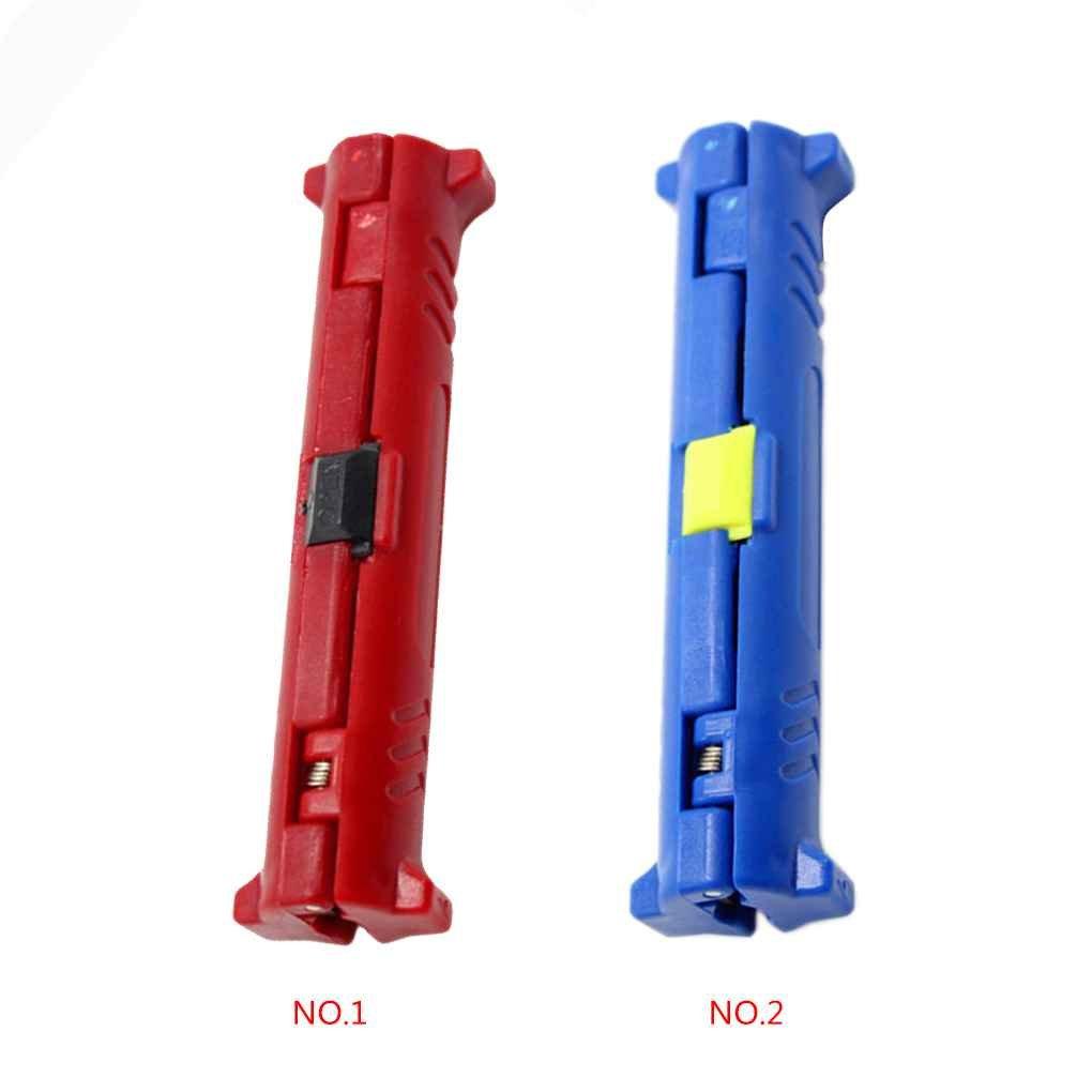 Morza Pen coaxial Fil c/âble /à d/énuder Outil /à d/énuder pour la t/él/évision par c/âble Audio vid/éo Rotary M/énage Seperator