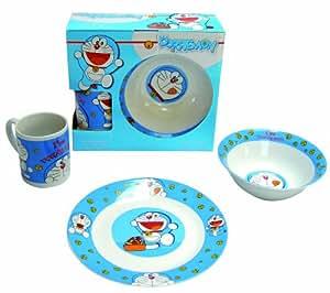 Doraemon - Set de desayuno porcelana (plato, bol y taza), color azul (United Labels 810667)