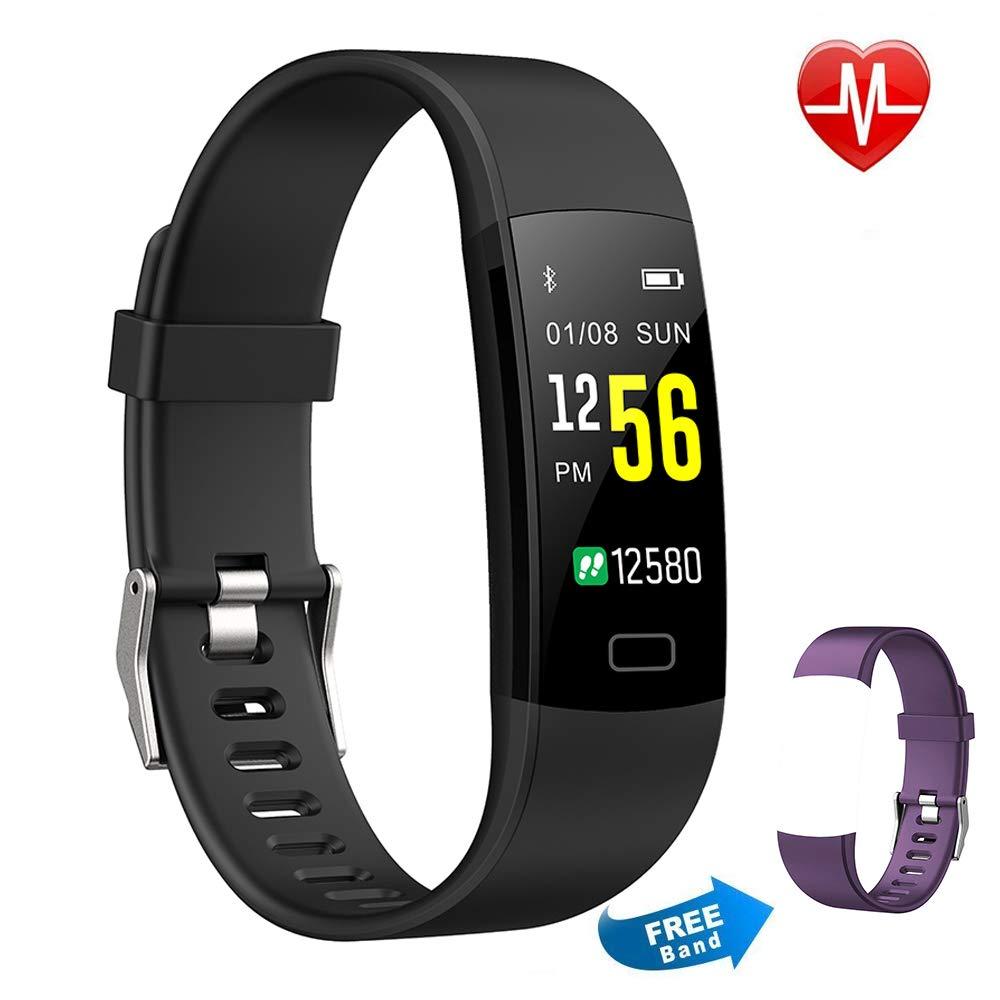 Pulsera Actividad Moson Reloj Deportivo Inteligente Pantalla Color Fitness Tracker con Monitor de Ritmo Cardíaco Las 24 Horas Impermeable IP68 Modos de ...