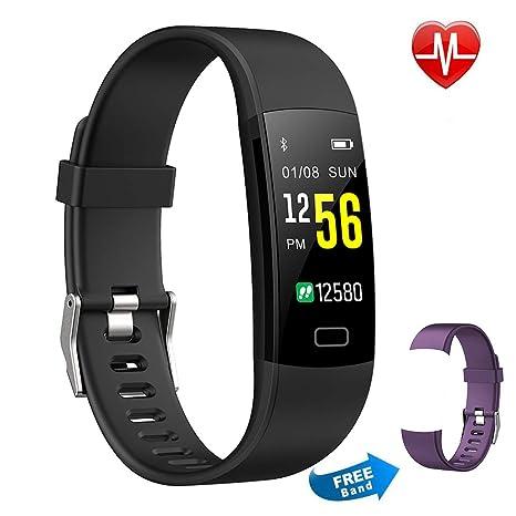 Pulsera Actividad Moson Reloj Deportivo Inteligente Pantalla Color Fitness Tracker con Monitor de Ritmo Cardíaco Las