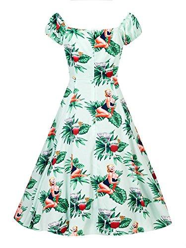 Dolores Tropical de Pin Up Girl Doll Dress, collectif Dress, 60