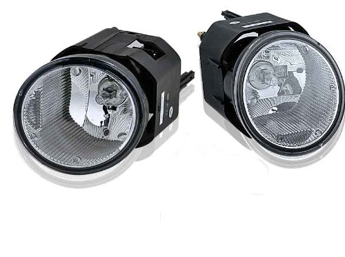 Style Fog Lights Kit - Fits 01-04 Nissan Frontier Clear Lens OE Style Fog Lights With Wiring Kit
